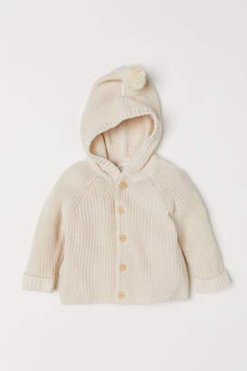 H&M Hooded Cardigan - Beige