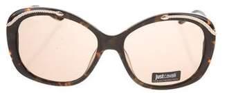 Just Cavalli Oversize Tortoiseshell Sunglasses