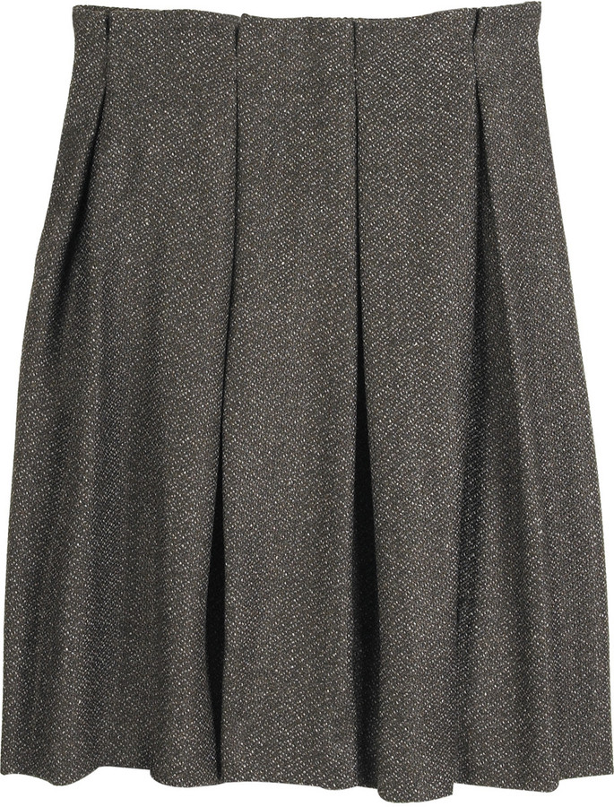 MINT jodi arnold Pleated tweed skirt