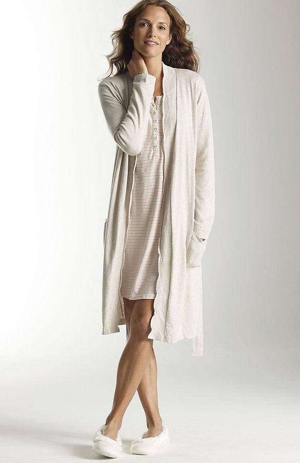 J. Jill J.Jill Sleep cotton & cashmere robe
