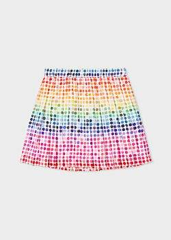 Paul Smith Girls' 8 + Years Multi-Coloured 'Buttons' Print Pleated Skirt