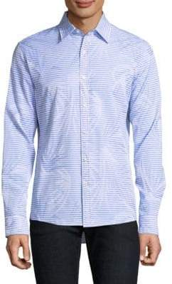 Michael Kors Slim-Fit Palm Jacquard Shirt