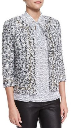 St. John Collection Amour Tweed 3/4-Sleeve Jacket $1,995 thestylecure.com