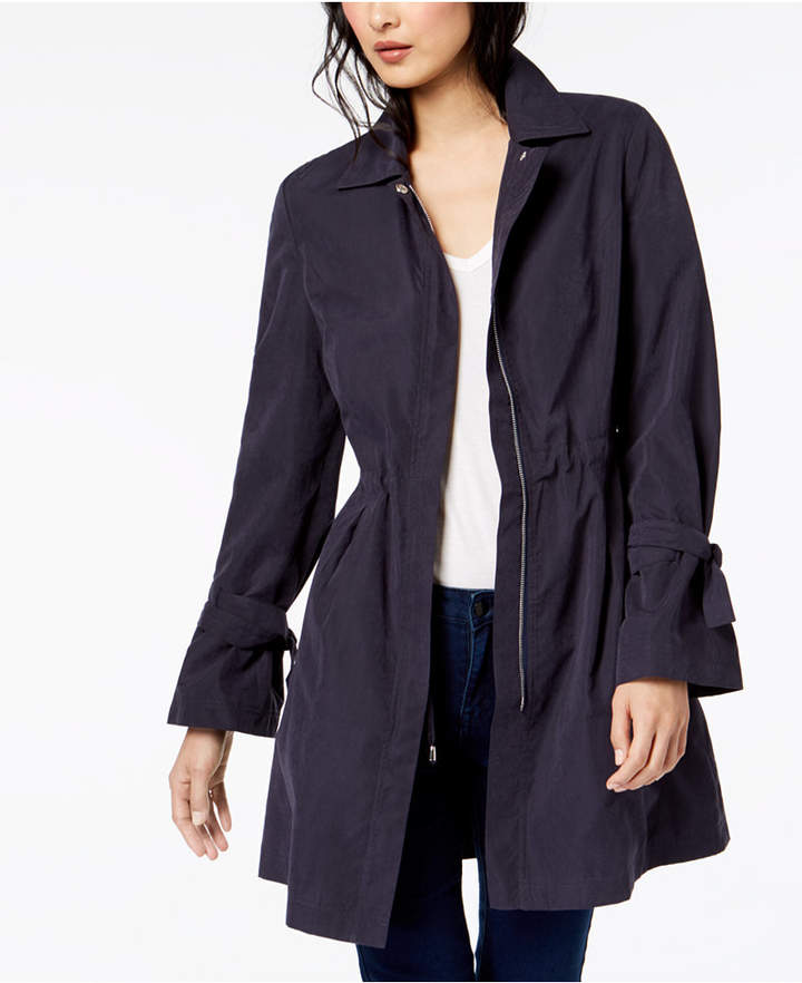 Maison Jules Tie-Sleeve Trench Coat, Created for Macy's