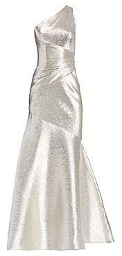 Theia Women's One-Shoulder Metallic Gown