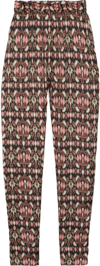 Helene Berman Printed satin pants
