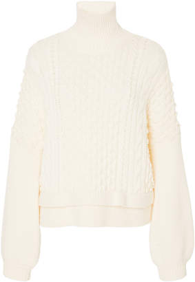 Frame Cable Knit Wool-Blend Sweater