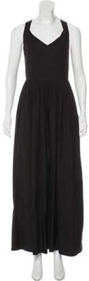 Max Mara Sleeveless Maxi Dress Black Sleeveless Maxi Dress