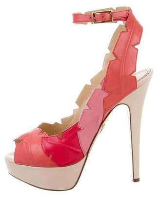 Charlotte Olympia Peep-Toe Ankle Strap Pumps