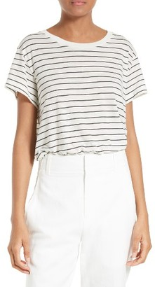Women's Vince Stripe Relaxed Tee $85 thestylecure.com
