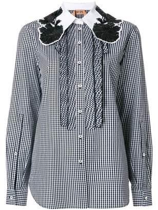 Wiki Cheap Price Free Shipping Cheap Online Embellished-collar gingham cotton shirt N°21 Footlocker Pictures Online Footlocker Cheap Online 8vipCB