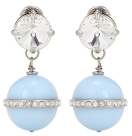 Miu Miu Miu Miu Crystal-embellished earrings