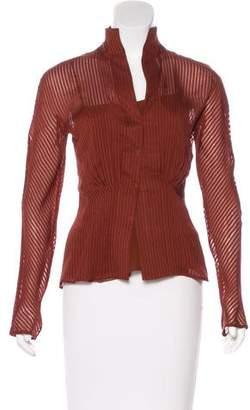 Akris Silk Button-Up Top w/ Tags