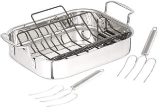 Calphalon Tri-Ply Stainless Steel 14In Roaster Set