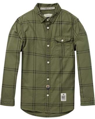 Scotch & Soda Checked Garment Dyed Shirt