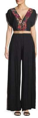 Free People Santoshi Two-Piece Cropped Top & Wide-Leg Pants Set