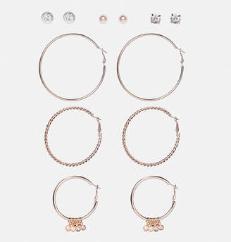 Avenue Rose Gold Mixed Earring Set