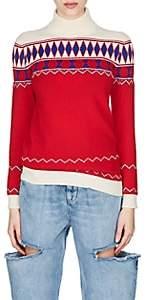 Maison Margiela Women's Fair Isle Wool Turtleneck Sweater - Red