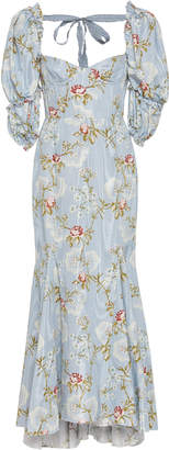 Brock Collection Olaya Floral Cotton-Blend Dress