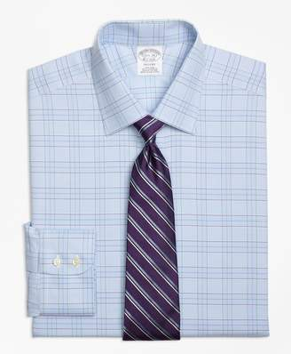 Brooks Brothers Regent Fitted Dress Shirt, Non-Iron Two-Tone Glen Plaid