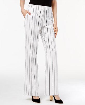 Calvin Klein Striped Wide-Leg Pants $89.50 thestylecure.com