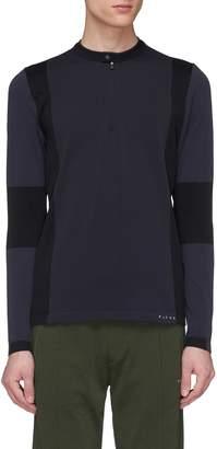 Falke Sports 'Anderson' colourblock half-zip performance long sleeve T-shirt