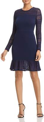 MICHAEL Michael Kors Lace-Trimmed Flounce Dress