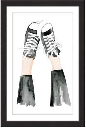 Marmont Hill Inc. Kickin Chucks Black Framed Print Wall Art