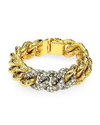 Ben-Amun Curb-Link Crystal Bracelet