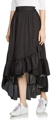 Maje Jonah High/Low Ruffled Skirt $295 thestylecure.com