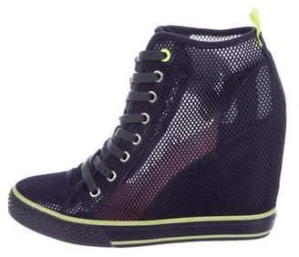 DKNY Mesh High-Top Sneakers