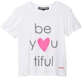 Peace Love World Be You Tiful Tee (Little Girls)