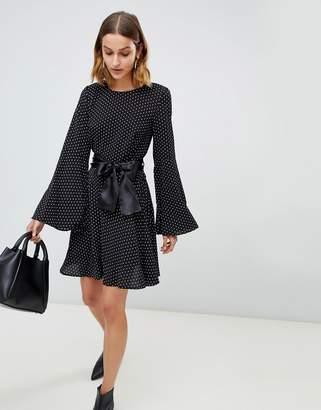 UNIQUE21 Unique 21 polka dot long sleeve smock dress