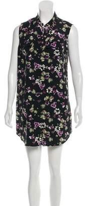Equipment Floral Silk Mini Dress