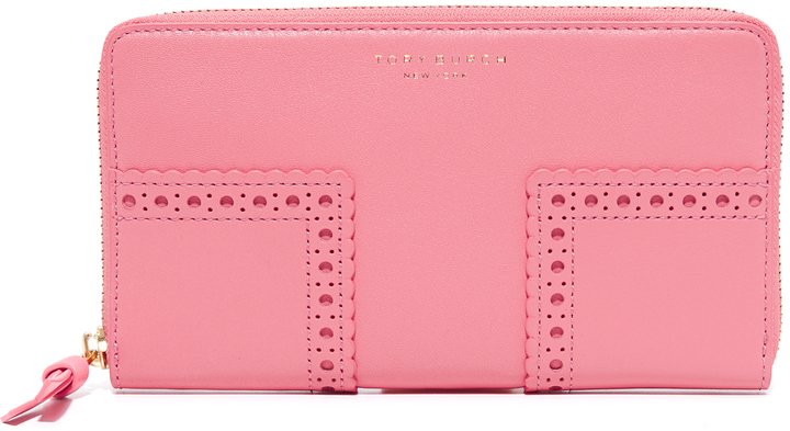 Tory Burch Tory Burch Block T Brogue Continental Wallet