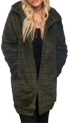 Buddy Love Olive-Branch Fur Coat