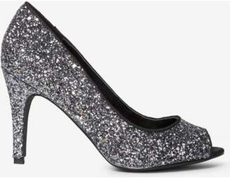 Dorothy Perkins Womens Pewter Glitter 'Clover' Court Shoes