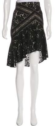 Lover High-Low Knee-Length Skirt