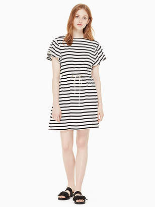 Kate Spade Stripe drop shoulder dress