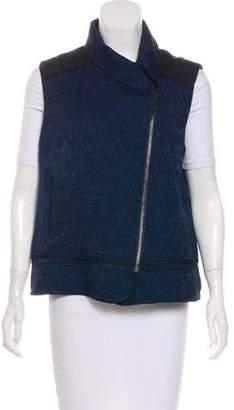 Elizabeth and James Patterned Zip-Up Vest