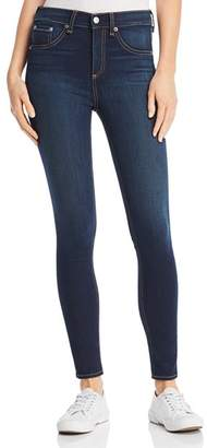 Rag & Bone High-Rise Ankle Skinny Jeans in Bedford