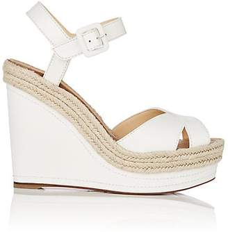 Christian Louboutin Women's Almeria Leather Platform-Wedge Sandals - Snow