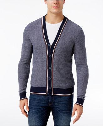 Michael Kors Men's Tipped Stripe Cotton Cardigan Sweater $129.50 thestylecure.com