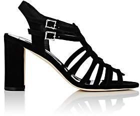 Manolo Blahnik Women's Ticcia Suede Sandals - Black