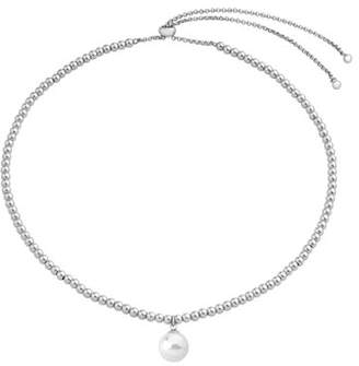 Majorica Adjustable Necklace w/ Beading & Manmade Pearl