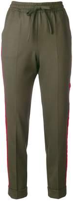 P.A.R.O.S.H. velvet trim trousers