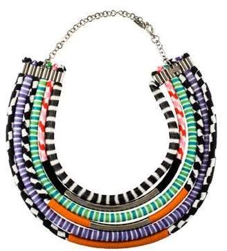 Missoni Knit Collar Necklace