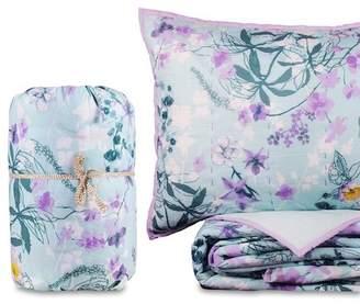 California Design Den by NMK Full/Queen Oriental Flights Handcrafted Cotton Quilt Set - Floral