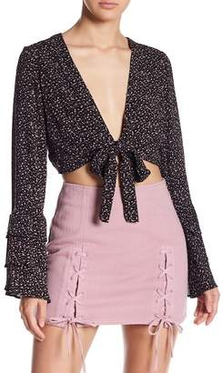 Honey Punch Tied Front Crop Top
