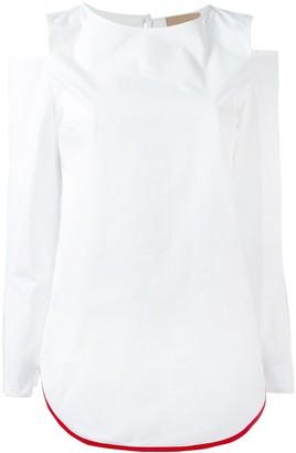 Cavallini Erika cut-out shoulders blouse